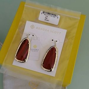 Kendra Scott Lyn earrings Bordeaux Tiger's Eye
